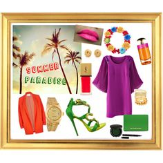 """Summer Paradis"" by lenkafen on Polyvore"