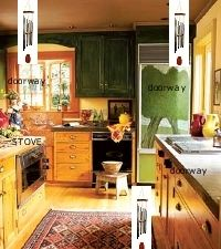 Curing multiple Doorways into the Kitchen. If your kitchen has constant traffic, this could pull away the healthy chi. Hang a Windchime and solve the Issue! Feng Shui for Kitchen. New Kitchen Cabinets, Kitchen Countertops, Laminate Countertops, Kitchen Sinks, Kitchen Backsplash, Outdoor Kitchen Design, Kitchen Decor, Kitchen Ideas, Kitchen Designs