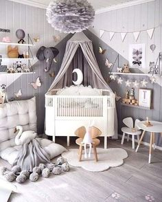 Vintage Kids Rooms - childrens decor and interior design ideas. Bedroom For Girls KidsChilds BedroomKids Bedroom PaintGirls Room - Baby Nursery Today Baby Bedroom, Baby Boy Rooms, Baby Boy Nurseries, Nursery Room, Girl Nursery, Kids Bedroom, Nursery Decor, Bedroom Decor, Bedroom Lighting