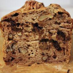 Bananen-walnoot-chocolade cake