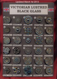 Victorian Lustred Black Glass