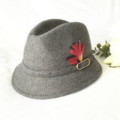 Vintage Biltmore grey wool fedora trendy by Kimscottageloft a9c9b06ffb6e