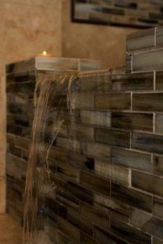 Waterfall. bathroom #Interior design by SKD Studios skdstudios.com