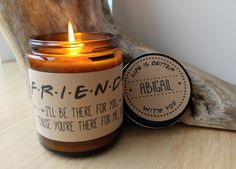 Friends Candle Gift. 9 oz Hand Poured Soy Candle. Completely Handmade in Astoria, Oregon. Comes ready to gift in a lovely gift box. Perfect Holiday Gift or Anytime Gift! -TO ORDER- After purchase, ple