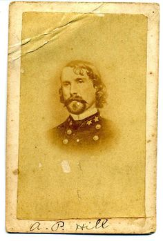 Confederate General Ambrose P Hill c1862 Civil War CDV Probable C s A Photo