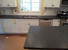 Black Pearl Leather Granite By Art Granite Countertops Inc. Bungalow Kitchen, Beach House Kitchens, Condo Kitchen, New Kitchen, Kitchen Remodel, Kitchen Decor, Craftsman Kitchen, Kitchen Ideas, Granite Bathroom