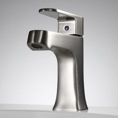 Vantage Single Hole Bathroom Faucet with Pop Up Drain - Satin Nickel