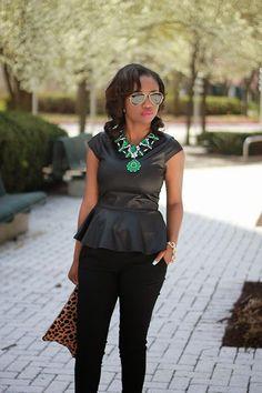 Prissysavvy: Black + Emerald + Leopard