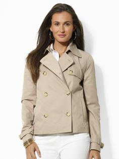 Cropped Trench Coat - Outerwear   Jackets & Outerwear - RalphLauren.com