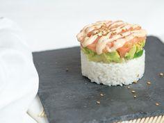 Sushi Stack mit Lachs und Avocado - Happy Lifestyle Blog