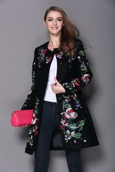 Free Shipping!!! 2019 Vintage Embroidery Cashmere Slim Trench Coat www.offtobuy.com