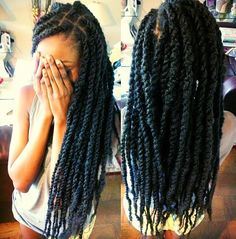 Marley twist - To learn how to grow your hair longer click here - http://blackhair.cc/1jSY2ux
