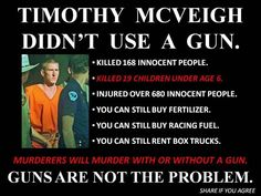 Guns don't kill people.