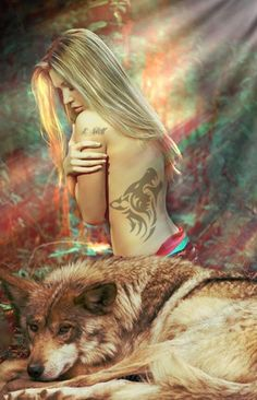 Me and my wolf Fantasy Wolf, Dark Fantasy, Fantasy Art, Wolves And Women, Wolf Love, Wolf Girl, Foto Pose, Photography Women, Erotic Art