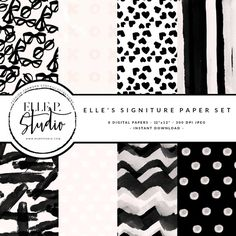 Preppy Chic Digital Paper Bundle by Elle P. Studio on @creativemarket