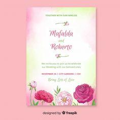 Hermosas flores frontera plantillas invitaciones t Flower Invites, Wedding Invitations, Love Design, Our Wedding, Dibujo, Floral Invitation, Spring Flowers, Card Templates, Wedding Invitation Cards