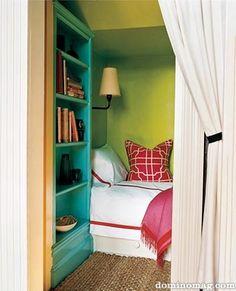 cozy sleeping nook from domino magazine