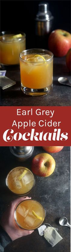 Earl Grey Apple Cider Cocktail ~ www.healthy-delic...