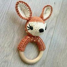 NatVit®k ღ Amigurumi häkeln ღ - Crochet Deer, Crochet Baby Toys, Crochet For Kids, Diy Crochet, Crochet Crafts, Crochet Dolls, Baby Knitting, Crochet Projects, Loom Knitting