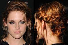 Kristen Stewart's Side-Braided Bun