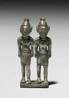 Pair of silver deities. Anatolian. Hittite, c . 1400-1200 B.C. | The Walters Art Museum