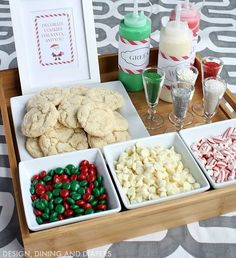 Christmas Cookie Decorating Station for kids or adults! Create a Christmas Cookie Decorating Station for your next holiday party! Perfect for kids and adults and Santa will love them! Christmas Cocktail, Christmas Pajama Party, Christmas Brunch, Christmas Party Decorations, Christmas Fun, Christmas Eve Box For Kids, Christmas Party Ideas For Adults, Christmas Traditions Kids, School Christmas Party