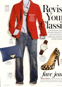 InStyle Magazine- January 2012 - YES!  Love the blazer and leopard!