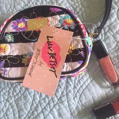 Betsey Johnson Floral Wristlet So cute! Betsey Wristlet Cosmetic Betsey Johnson Bags Clutches & Wristlets