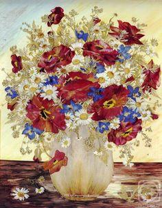Ошибана-живопись цветами