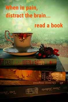 Rainy day, cup of tea, and books=perfection Tea And Books, I Love Books, Books To Read, My Books, World Of Books, I Love Reading, Reading Books, Lectures, Book Nooks
