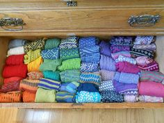 <3 <3 <3 sockdrawer ~ someday I want a drawer that looks like this!