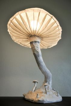 While looking for a lamp for your house, your choices are almost unlimited. Discover the perfect living room lamp, bed room lamp, table lamp or any other type for your selected room. Paper Mache Sculpture, Sculpture Art, Cardboard Sculpture, Light Table, Lamp Light, Mushroom Lights, Unusual Facts, Paper Light, Handmade Lamps