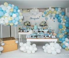 Beautiful Party by - New Deko Sites Baby Shower Balloons, Baby Shower Cakes, Baby Boy Shower, Baby Shower Gifts, Baby Party, Baby Shower Parties, Baby Shower Themes, 1st Boy Birthday, Birthday Parties