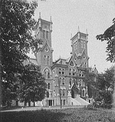 Vanderbilt University Circa: 1901 - before a massive fire claimed the tower on the right. It was never replaced. State Of Tennessee, Nashville Tennessee, Cornelius Vanderbilt, Music City Nashville, Vanderbilt Commodores, College Search, Vanderbilt University, School Of Engineering, Glasgow School Of Art