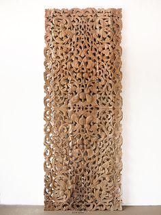 Decorative Wood Wall Panels thai artifact wood carving wall sculpture. circularsiamsawadee