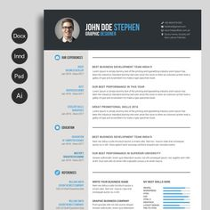 Free Resume Template Downloads | Free Professional Resume Templates |  Master Bundles