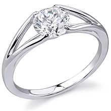 Stardust Active Split-Shank Engagement Ring: This stunning sleek new design is perfect for the modern bride. The center stone (not included) is set low and the matching band (sold seperately) fits flush against the setting.    1750 for platinum, no stone