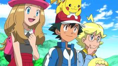 Anime Screencap and Image For Pokemon: XY Pokemon Ash And Serena, Micro Lego, Transformers, Nerdy, The Past, Wallpaper, Fictional Characters, Battle, Friendship