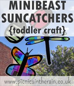 minibeast sun catchers - fun toddler craft for a bug theme Toddler Crafts, Crafts For Kids, Arts And Crafts, Mini Beasts, Room Planning, Toddler Learning, Play To Learn, Sun Catcher, Eyfs