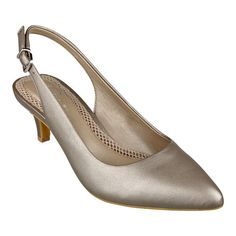 """Meet Liselle, the newest member of our incredibly comfortable Anti-Gravity collection. These pointy toe, mid-heel slingback dress shoes are lightweight with a flexible outsole that offer superior comfort and traction. Breathable mesh footbed for all-day, into-the-evening comfort. Available in medium widths and wide widths. 2 1/4"""" mid heels."""