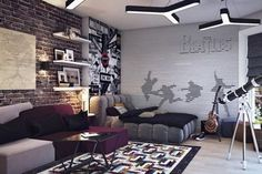 Amazing design ideas for teen bedrooms that are so lively and full of colors for boys and girls.