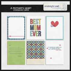 Free A Mother's Heart Journaling Cards from Midnight Owl Designs {on Facebook}