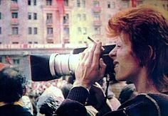 Bowie with camera