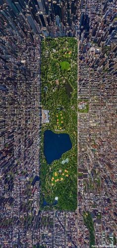 Central Park from the air
