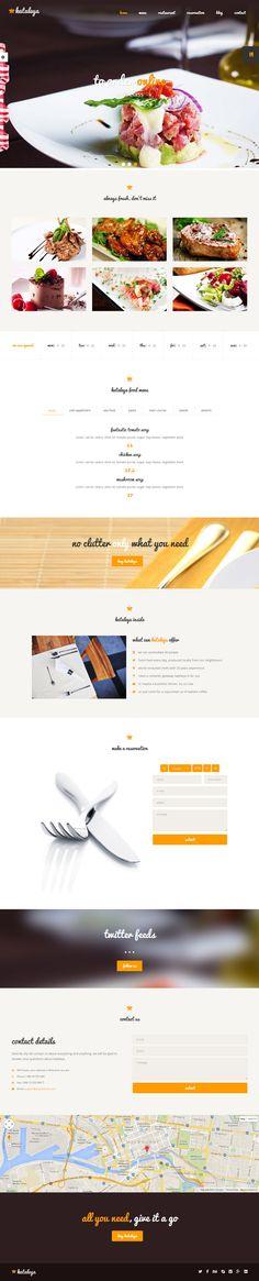 Kataleya is Premium full Responsive HTML5 Restaurant Template. Retina Ready. Parallax Scrolling. One Page. Bootstrap Framework.