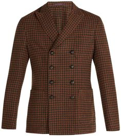 THE GIGI Ziggy houndstooth double-breasted blazer