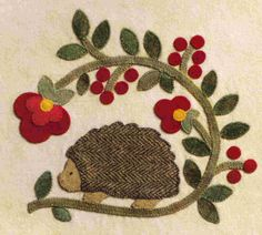 Brandywine Designs wonderful applique design with hedgehog                                                                                                                                                      More