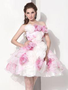 Strapless Short Quinceanera Dress E12057$99.99 #asapbay