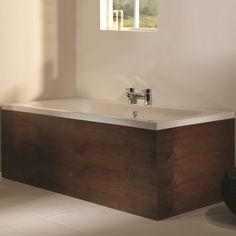 Tavistock Ethos Wooden Bath End Panel Walnut 700 Wood Tub, Wood Bathroom, Family Bathroom, Master Bathroom, Bathroom Ideas, Wooden Bath Panel, Industrial Toilets, Bath Surround, Baths Interior