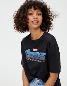 T-shirt Avengers : Endgame - pull&bear Curly Bangs, Short Curly Haircuts, Curly Hair Cuts, New Haircuts, Curly Hair Styles, Natural Hair Styles, Hair Inspo, Hair Inspiration, Costume Noir